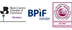 Member of the Black Country Chamber of Commerce, BPIF Member and ISO 9001 Registered Firm